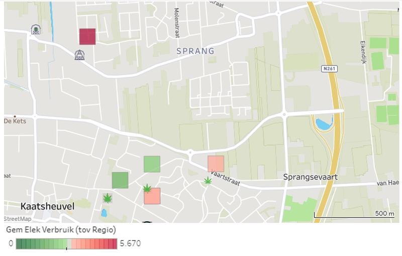 Inzicht energieverbruik op straatniveau